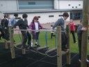 P4's using the new play equipment